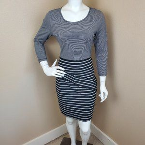 HEM & THREAD Stripe Knit Bodycon Dress